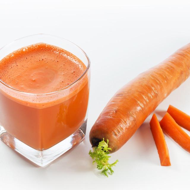 """Fresh Carrot Juice"" stock image"
