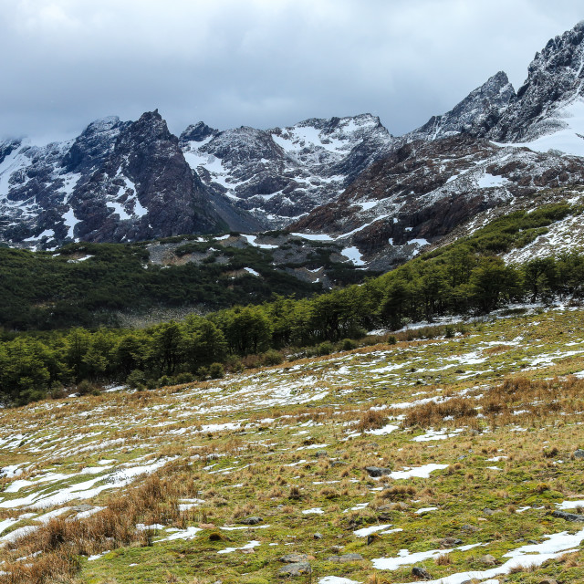"""Dientes de Navarino hiking circuit"" stock image"