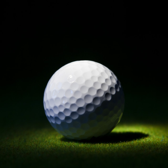 """Golf ball"" stock image"