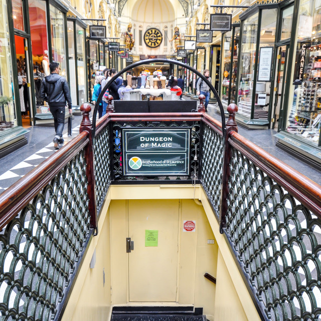 """Royal Arcade Shopping Melbourne"" stock image"
