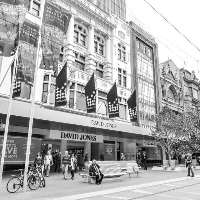 """Melbourne Sales at David Jones Department Store"" stock image"