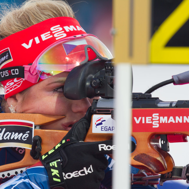 """Russian Biathlon"" stock image"