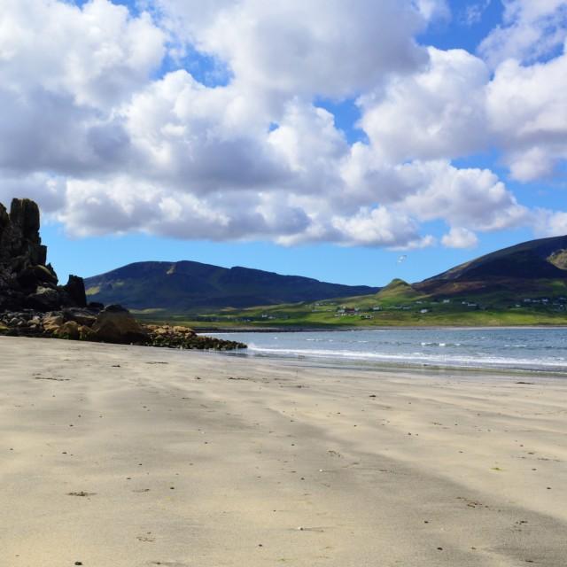 """A peaceful beach on the Isle of Skye."" stock image"