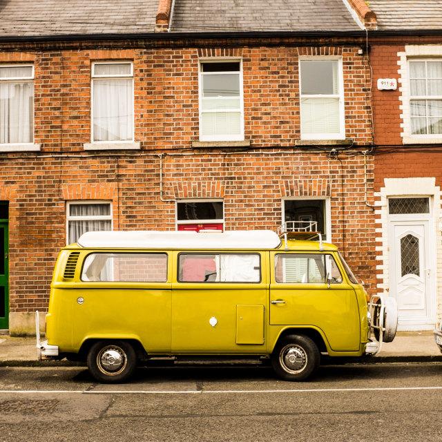 """""""VW Campervan Dublin"""" stock image"""