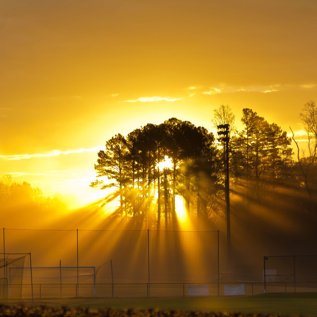 """Baseball Sunrise"" stock image"