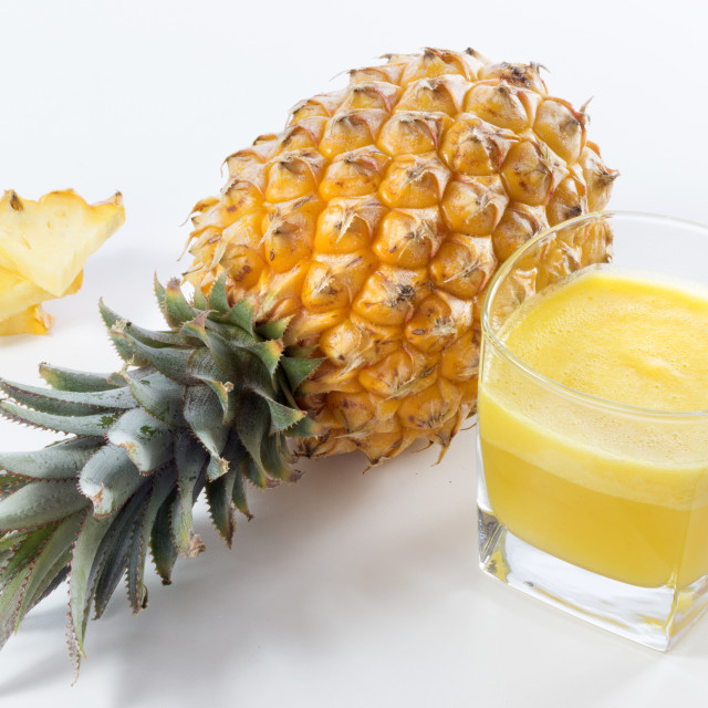 """Pineapple & Pineapple Juice"" stock image"