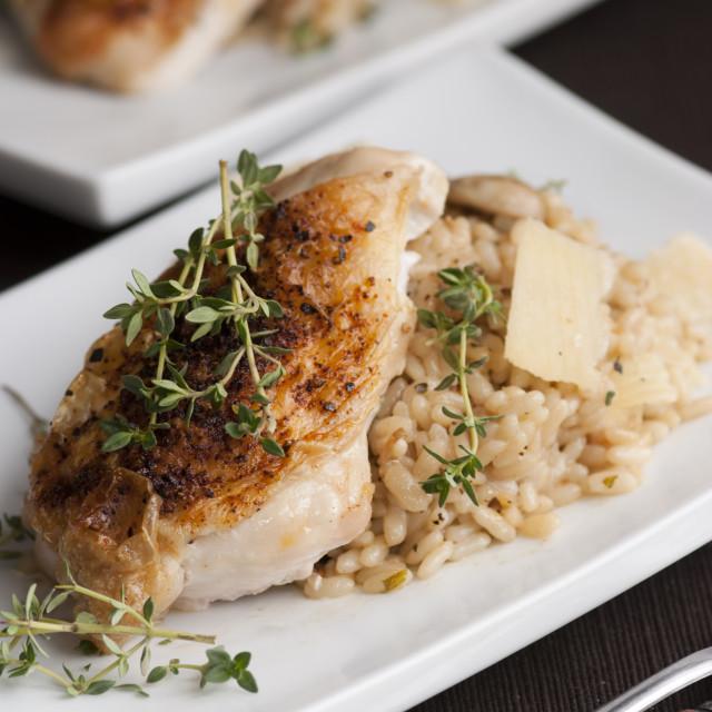 """Roast chicken"" stock image"