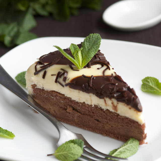 """Chocolate tart"" stock image"