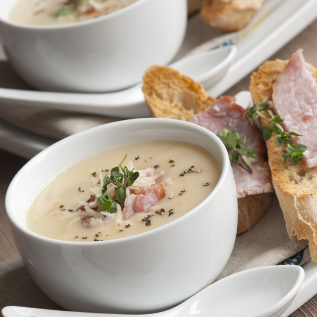 """Ham and sweetcorn chowder"" stock image"