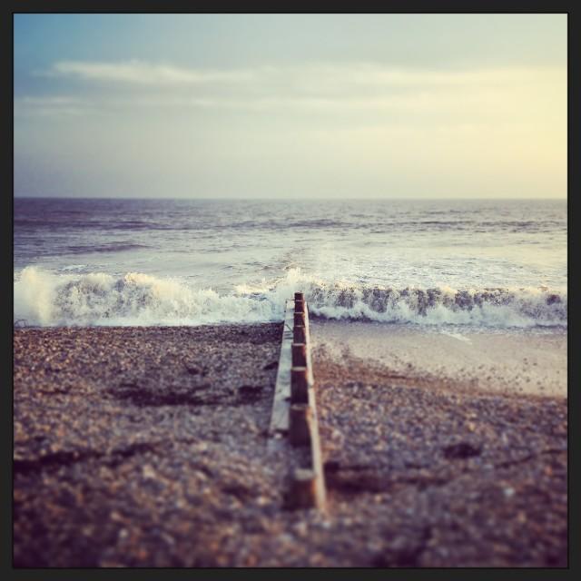 """South coast groyne"" stock image"