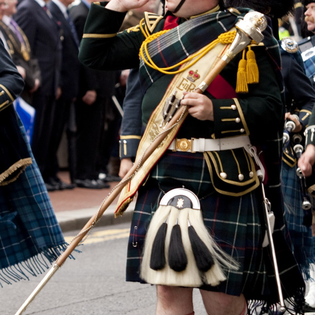 """Pipe Major"" stock image"