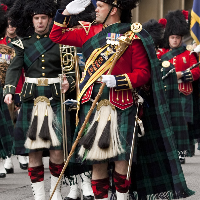 """Pipe Major salute"" stock image"