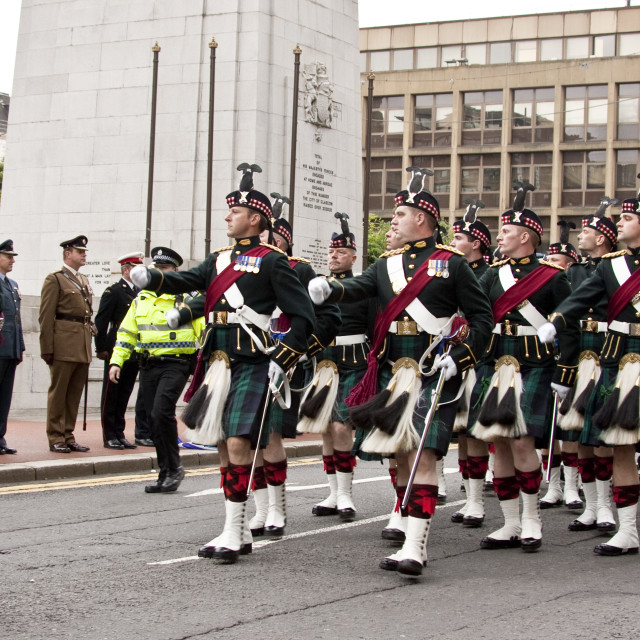"""Royal Regiment of Scotland"" stock image"