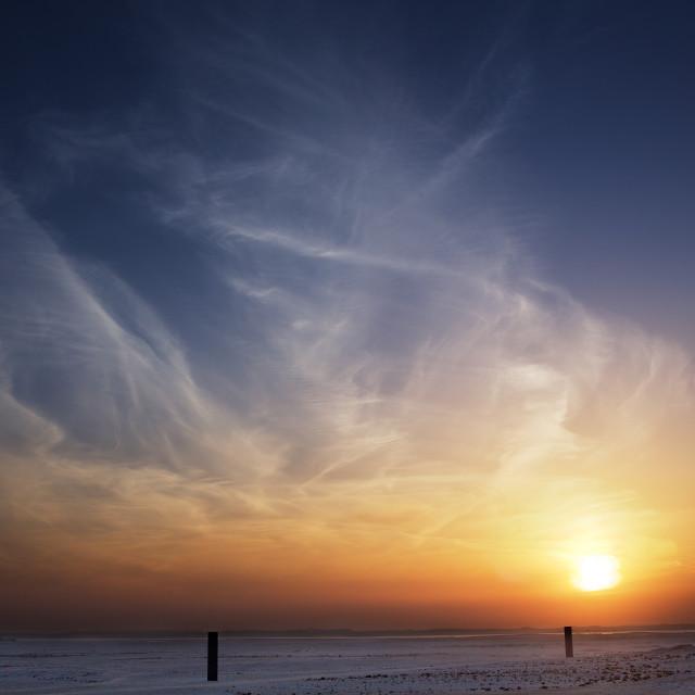 """Monolith Sunset"" stock image"