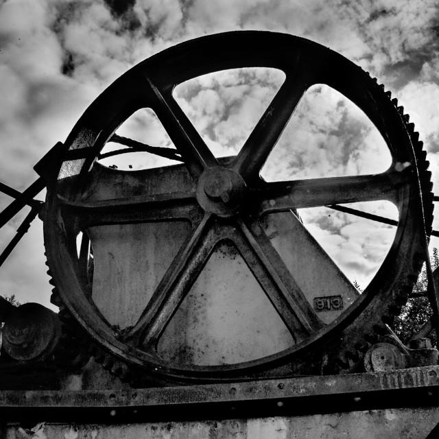"""Engine wheel"" stock image"