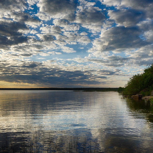 """Sunset lake"" stock image"