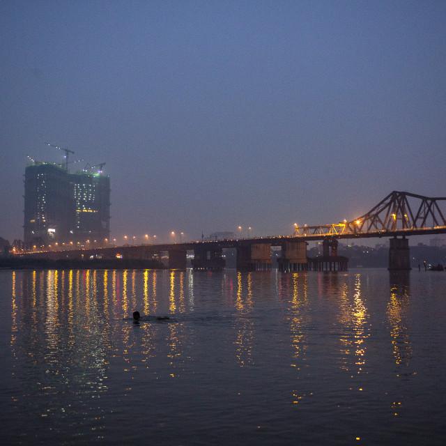 """Hong River, Hanoi, Vietnam"" stock image"