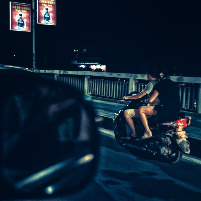 """Night riders"" stock image"