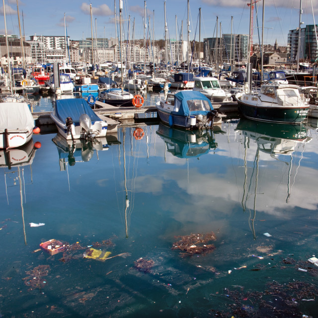 """Marina pollution"" stock image"