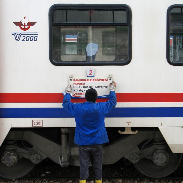 """Istanbul - Train"" stock image"