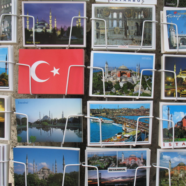 """""""Istanbul - Postcards"""" stock image"""