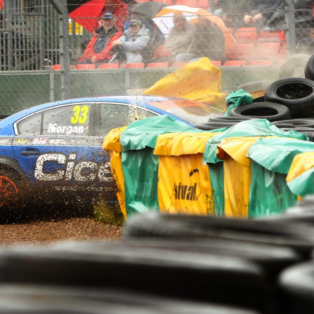 """""""Britih Touring Car Crash"""" stock image"""