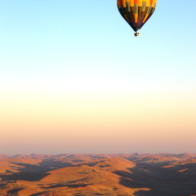 """Namib Balloon flight"" stock image"