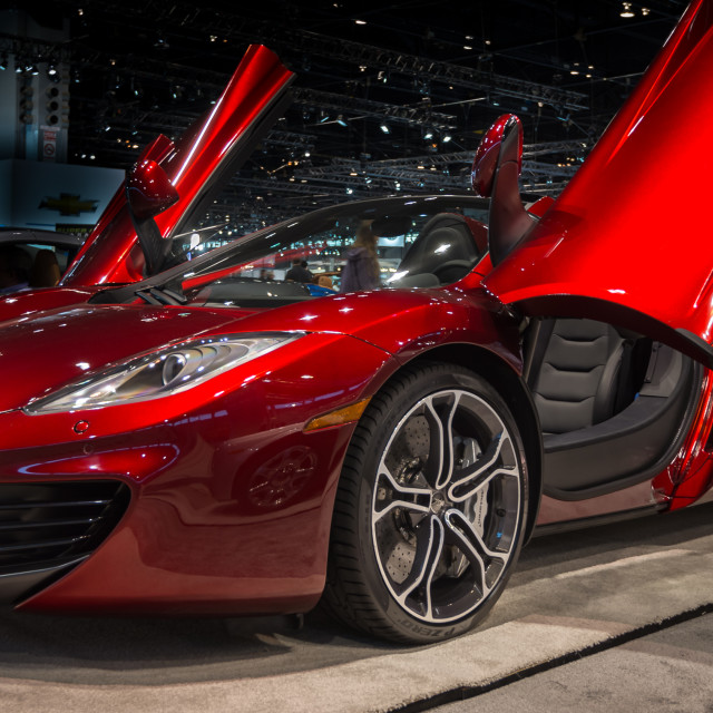 """2014 McLaren MP4-12C Spider"" stock image"