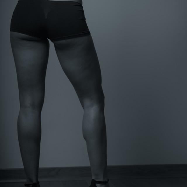 """heels at gym"" stock image"