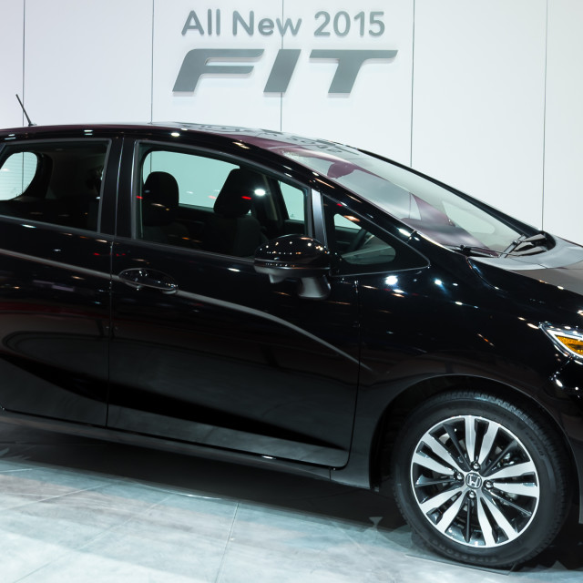 """2014 Honda Fit"" stock image"
