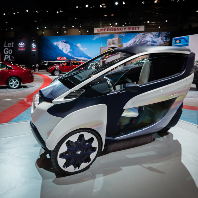 """""""2014 Toyota i-Road Personal Mobility Vehicle Concept"""" stock image"""