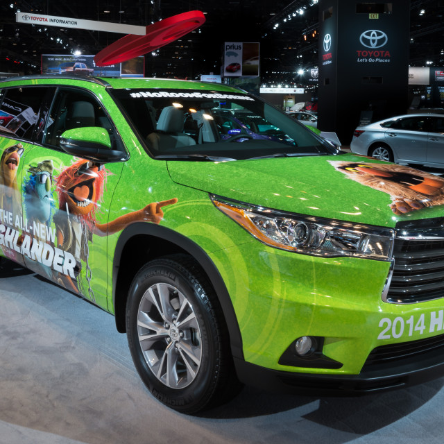 """2014 Toyota Highlander Muppets Edition"" stock image"