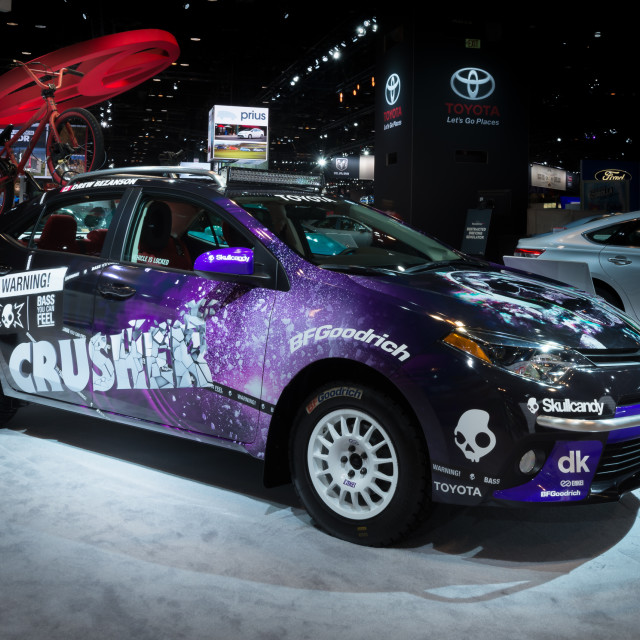 """2014 Toyota Dream Build Challenge Corolla"" stock image"