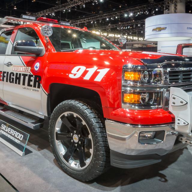 """2014 Chevrolet (Chevy) Silverado Volunteer Firefighter Concept"" stock image"