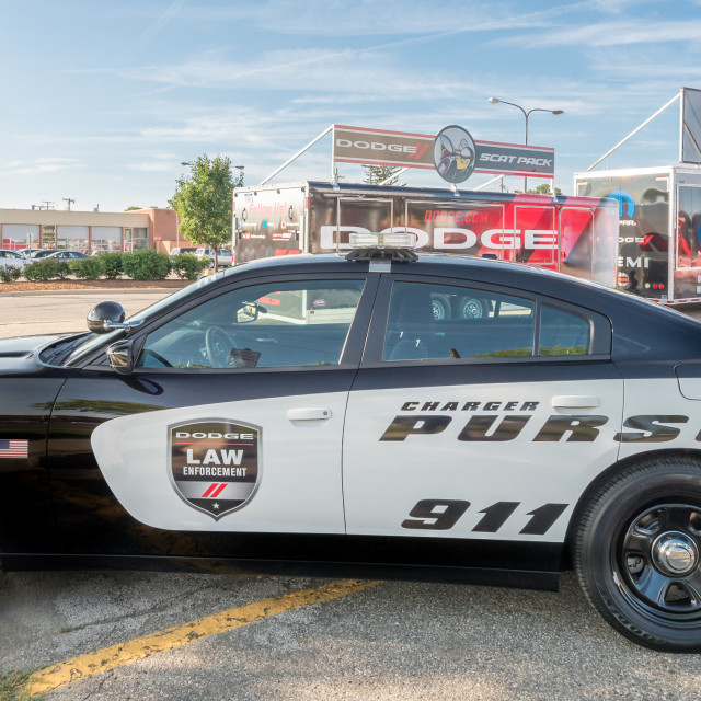 """Dodge Charger Police car"" stock image"