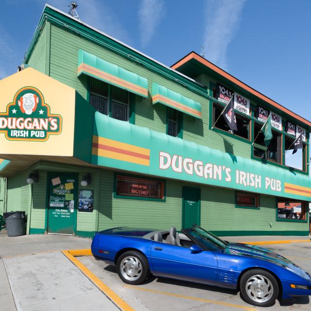 """""""1992 Corvette at Duggan's"""" stock image"""