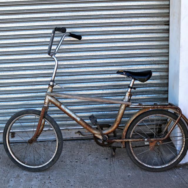 """Mixed media bike"" stock image"