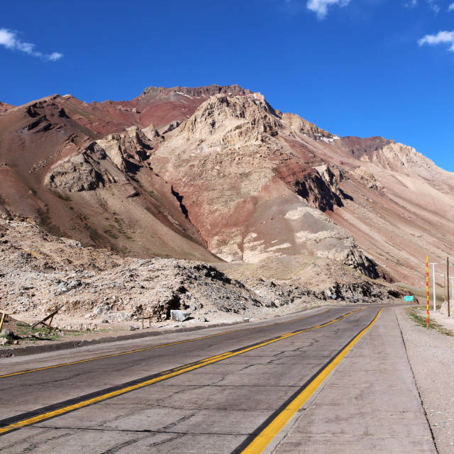 """""""On the open road in Argentina"""" stock image"""