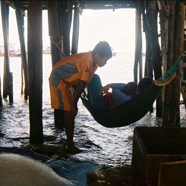 """""""Riverside, Nha Trang, Vietnam"""" stock image"""