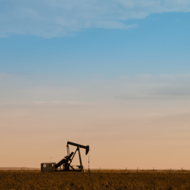 """Lonely oil pump"" stock image"