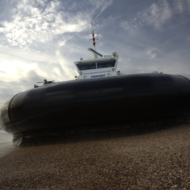 """Hovercraft at Southsea"" stock image"