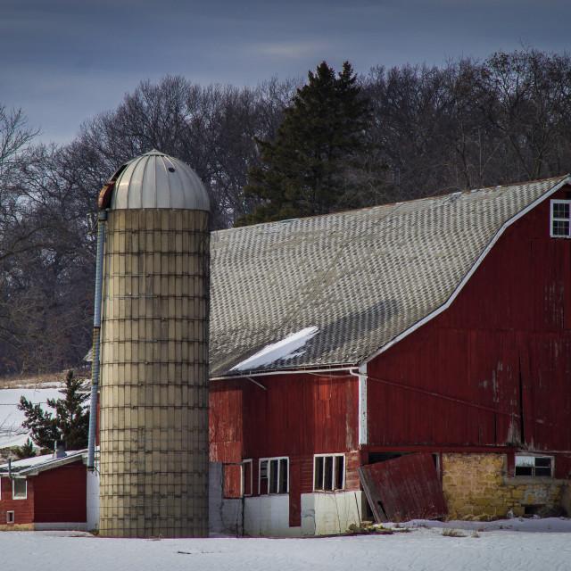 """""""Barn and Silo"""" stock image"""