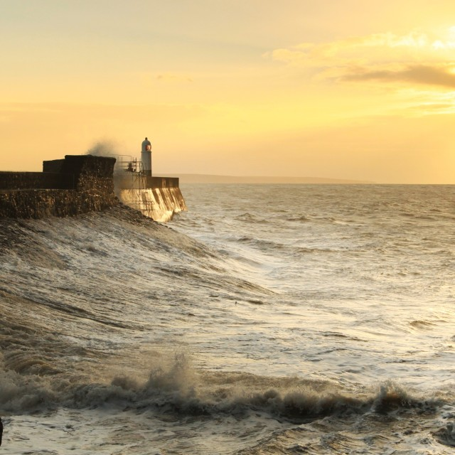 """Porthcawl Dawn"" stock image"