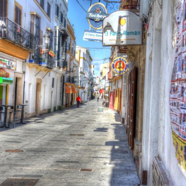 """""""El Puerto de Sta María"""" stock image"""