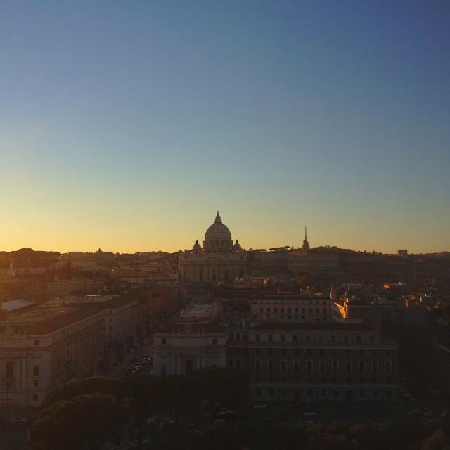 """Vatican sunset"" stock image"