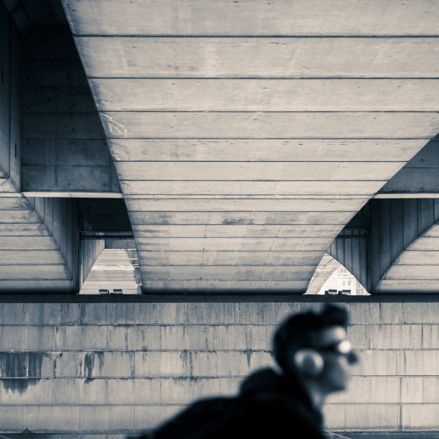 """Under the bridge"" stock image"
