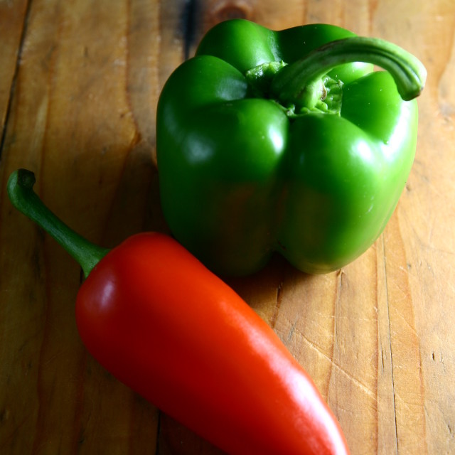"""red and green bell pepper"" stock image"