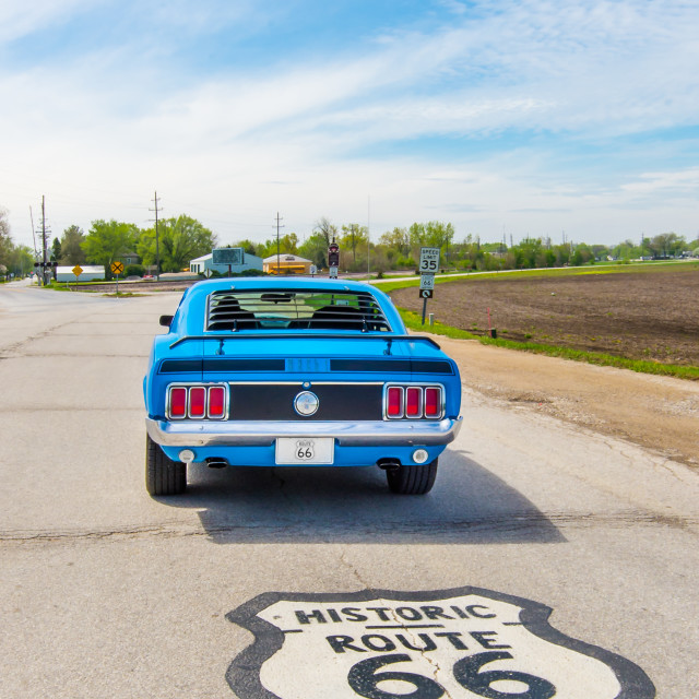 """Route 66 '13 - DAY 2 Bollingbrook, IL to Cuba, MO, Shield"" stock image"