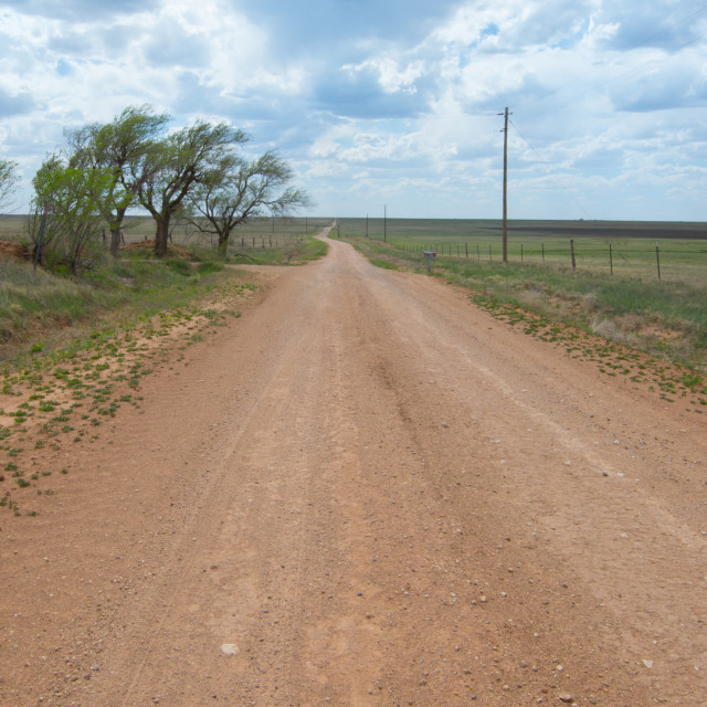 """Route 66: ""Dirt 66"", a.k.a. Jericho Gap, Alanreed, TX"" stock image"
