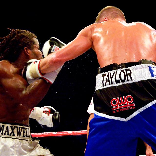"""World Champioship Boxing"" stock image"